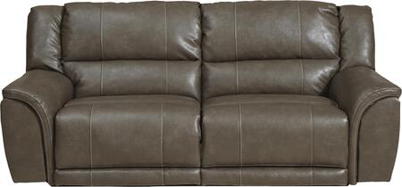 "Catnapper Carmine Collection 4151- 95"" Lay Flat Reclining Sofa with Bonded Leather Upholstery, Luggage Stitching and Split Back in"