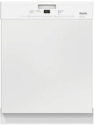 "Miele G4925UWH 24"" Classic Plus Series Built In Full Console Dishwasher with 13 Place Settings Place Settingin White"