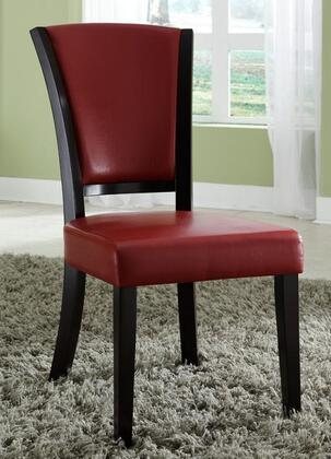 Coaster 103682RED Dining 1036 Series Casual Vinyl Wood Frame Dining Room Chair
