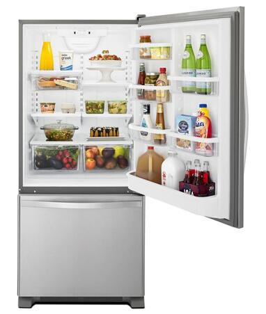 Whirlpool WRB322DMBM 33 Inch Bottom Freezer Refrigerator, in