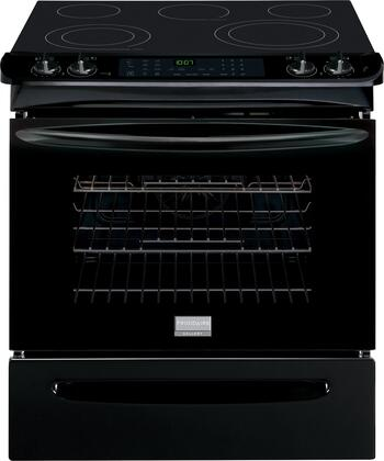"Frigidaire Gallery FGES3065P 30"" Slide-In Electric Range with 4.6 cu. ft. Oven, Quick Preheat, True Convection, Quick Clean, Sabbath Mode, One-Touch Options and Keep Warm Setting in"
