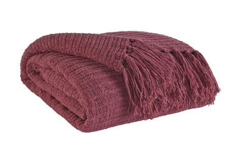 Signature Design by Ashley Santino Collection A100015XT Decorative Throw with Polyester/Acrylic Blend, Fringe Details and Ribbed Knit in