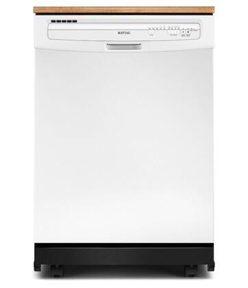 Maytag mdc4809paw jetclean plus series white portable full - Portable dishwasher stainless steel exterior ...