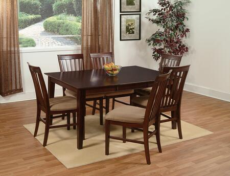 Atlantic Furniture SHAKER3648STDT Shaker Series 36x48 Solid Top Dining Table: