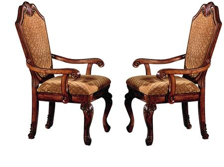 Acme Furniture 04078 Chateau De Ville Series Traditional Fabric Wood Frame Dining Room Chair