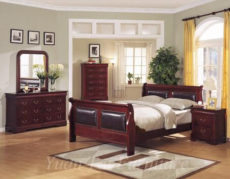 Yuan Tai 4801K Louis Philippe Series  Padded Sleigh Bed