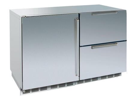 Perlick HP48FRS2L6DNU Signature Series  Counter Depth Side by Side Refrigerator with 12.3 cu. ft. Capacity