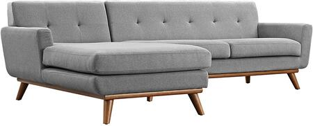 Modway EEI2068GRYSET Engage Series Stationary Fabric Sofa