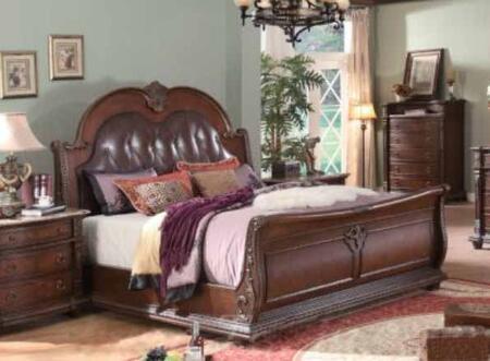 Yuan Tai 1170Q Charlotte Series  Queen Size Sleigh Bed