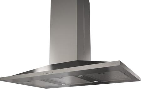 Zephyr ZAZxxCS Essential Europa Series Anzio Island Mount Range Hood with 600 CFM Internal Blower, ACT Internal Blower, ICON Touch Controls, Dishwasher Safe Mesh Filters and Dual Level Lighting, in Stainless Steel