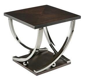 Milo Italia TA4817 Maia Series Contemporary Square N/a Drawers End Table