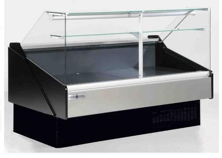 Hydra-Kool KPMFGxR Flat Glass Deli Case with Cooling BTU, Tilt Out Flat Tempered Front Glass, Rear Tempered Sliding Doors, in Black