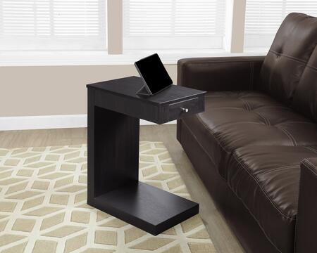 """Monarch I319X 24"""" Accent Table with Front Drawer, Modern Base and Simple Pull"""