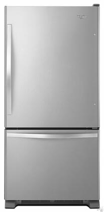 "Whirlpool WRB329DMBM 30""  Bottom Freezer Refrigerator with 18.7 cu.ft. Capacity in Stainless Steel"