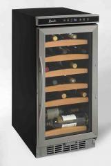 """Avanti WC1500DSS 15"""" Built-In and Freestanding Wine Cooler, in Stainless Steel"""