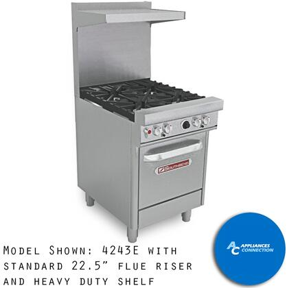 """Southbend 4243 Ultimate Range Series 24"""" Gas Range with Four Star/Saute Burners and Four Standard Cast Iron Grates, Up to 132000 BTUs (NG)/96000 BTUs (LP)"""