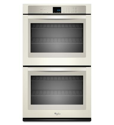 "Whirlpool WOD51EC0AX 30"" Double Electric Wall Oven With 5.0 Cu. Ft. Per Oven, Self-Cleaning, Hidden Bake Element, SteamClean Option, Precision Cooking System, 4 Oven Racks, In"