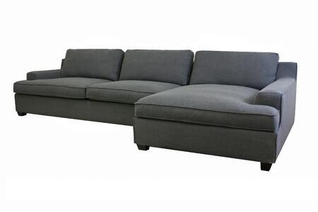 Wholesale Interiors TD0905AD06633PCCHAISE Kaspar Series  Sofa