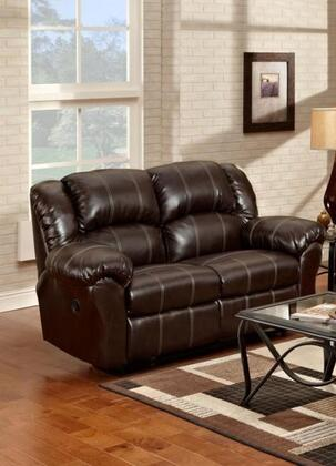 Chelsea Home Furniture 1002BB Verona IV Series Bonded Leather Reclining with Wood Frame Loveseat