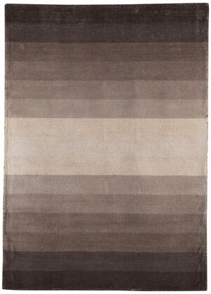 "Milo Italia Yareli RG417118TM "" x "" Size Rug with Ombre Design, Hand-Loomed, 2-3mm Pile Height and Wool Material Backed with Cotton Latex in Black and Tan Color"