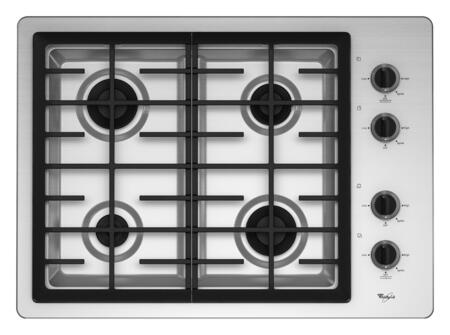 Whirlpool W5CG3024XS  Gas Sealed Burner Style Cooktop