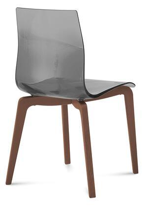 Domitalia GELSLSFNCASFU Gel Series Transitional Wood Frame Dining Room Chair