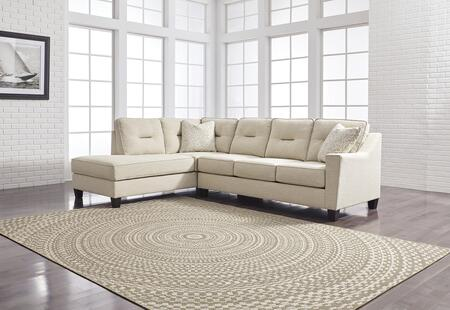 "Benchcraft Kirwin Nuvella Collection 99605 116"" 2-Piece Sectional Sofa with X Arm Facing Sofa and X Arm Facing Chaise in"