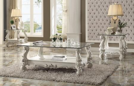 Acme Furniture 82103C2E Versailles Living Room Table Sets