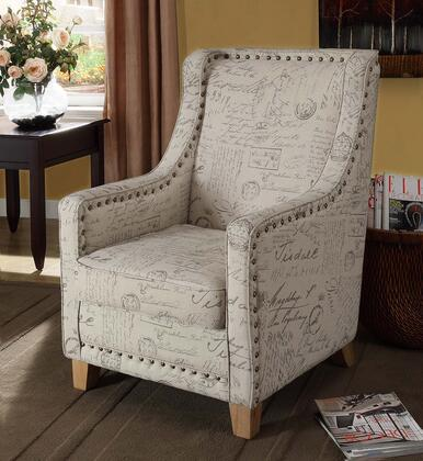 Armen Living LC2073VIFR Edmond Series  with Fabric Frame in Printed