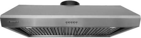 """XtremeAir Ultra Series UL13-U XX"""" Under Cabinet Ducted Range Hood With  900 CFM, Internal Blower, 3-Speeds Mechanical EZ Push Buttons, LED Lighting and Full Seamless Square Corner in Stainless Steel"""