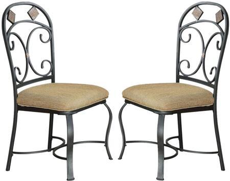 Acme Furniture 71127 Kiele Series Transitional Fabric Metal Frame Dining Room Chair