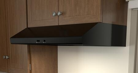 """Zephyr AK6536Bx 36"""" Essentials Power Series Cyclone Under Cabinet Range Hood with 600 CFM, 5 Sones, 2 Halogen Lighting, Self Cleaning, 3 Fan Speeds and Self Cleaning, in"""