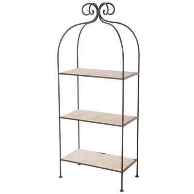 Stone County Ironworks 900-259 Scroll Standing Shelf Double Width 3 Tier
