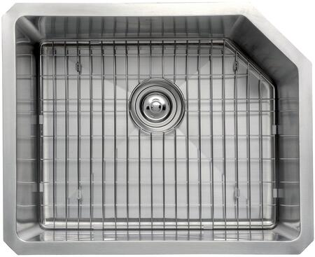 """Kraus KHU12123KPF1612KSD30 Precision Series 23"""" Single-Bowl Kitchen Sink with Stainless Steel Construction, Soundproofing, and Included Pull-Down Kitchen Faucet"""