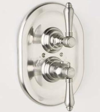 Rohl A4909LP Country Bath Collection Trim Only for Therm/Volume Concealed Valve, Porcelain Lever: