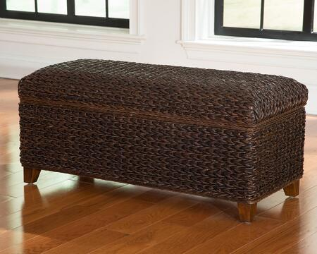 "Coaster Laughton 42.25"" Trunk with Tapered Wooden Legs and Woven Banana Leaf Construction in"