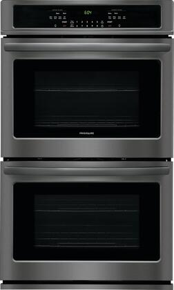 "Frigidaire FFET3026Tx 30"" Star K Certified Double Wall Oven with 9.2 cu. ft. Total Oven Capacity, 4 Oven Racks, Keep Warm Setting, and Vari Broil Option, in"