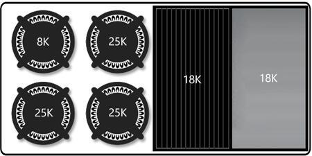 "Capital Culinarian Series CGSR484BG-X 48"" Freestanding X Range with 4 Open Burners, Primary 4.6 Cu. Ft. Oven Capacity, and Secondary 2.1 Cu. Ft. Oven Capacity, in Stainless Steel"