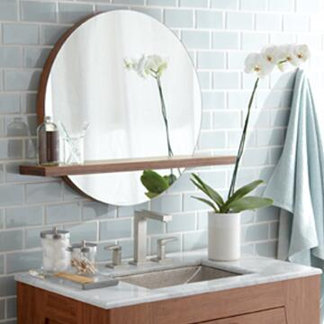 """Native Trails MSH28 28"""" Solace Mirror Shelf with Wall Mounted, Built in French Cleat, Low VOC and Finished in"""