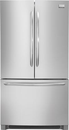 Frigidaire FGUN2642LF Gallery Series  French Door Refrigerator with 25.8 cu. ft. Total Capacity 4 Glass Shelves