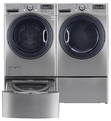 LG LG4PCFL27E2PEDSSKIT4 FrontLoad Washer and Dryer Combos