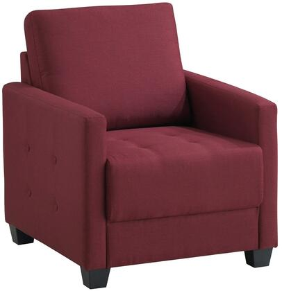 Glory Furniture G773C Fabric Armchair in Red Wine