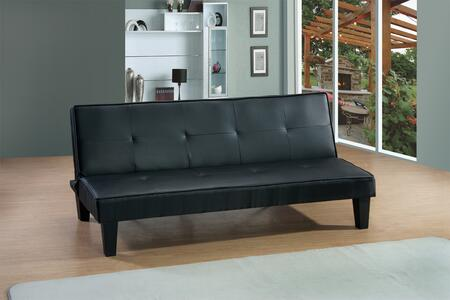 "Glory Furniture G11X-S 67"" Full Size Convertible Sofa Bed with Piped Stitching, Tufted Detailing and Tapered Legs in"