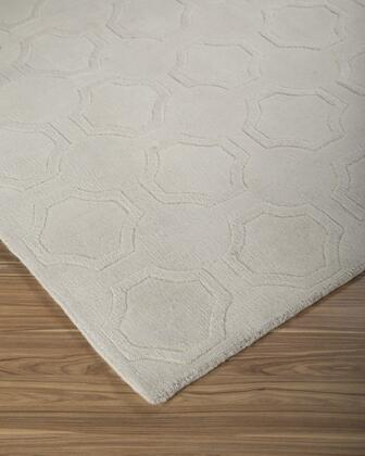 """Signature Design by Ashley Martyn R40029 """" x """" Size Rug with High/Low Design, Hand-Woven, 6-8mm Pile Height and Wool Material Backed with Cotton in Ivory Color"""