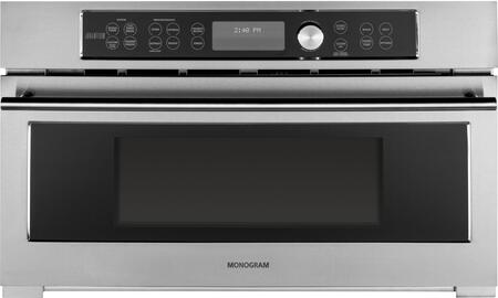 "GE Monogram ZSC120xJ 30"" Single Wall Oven with 1.6 cu. ft. Capacity, Advantium Speedcook Technology, Glass Touch Controls, Sensor Cooking, 16"" Turntable and Electronic Digital Display, in Stainless Steel"