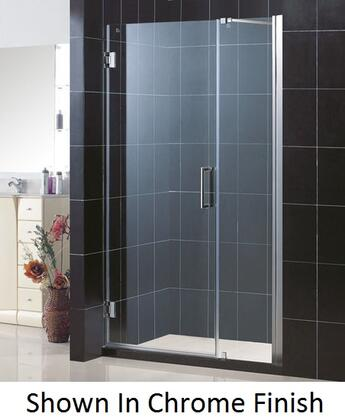 DreamLine SHDR-20487210 Unidoor Frameless Hinged Shower Door With Reversible For Right Or Left Door Opening, Self-Closing Solid Brass Wall Mounted Hinges (5 Degree Offset) & In