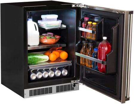 "Marvel MP24RAP4xP 24"" Compact Refrigerator with 5.1 cu. ft. Capacity, MaxStore Bin, Dynamic Cooling Technology, Multifunction Marvel Intuit Controls, in"