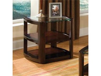 Standard Furniture 24072 5th Avenue Series Contemporary Rectangular 0 Drawers End Table