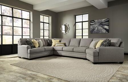 Benchcraft Cresson Collection 54907-5X-77-99-7X 4-Piece Sectional Sofa in Pewter