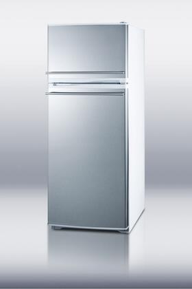 Summit FF1062WSSCH  Counter Depth Refrigerator with 9.41 cu. ft. Capacity in Stainless Steel